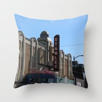 stanley kubrick Throw Pillows featuring Stanley by RMK Creative