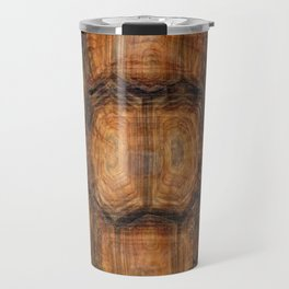 Brown Patterned  Organic Textured Turtle Shell  Design Travel Mug