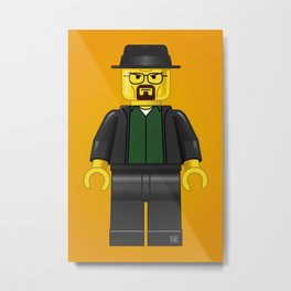 Lego Walter White - Vector Metal Print