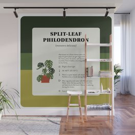 Split-Leaf Philodendron Care Wall Mural