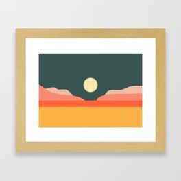 Geometric Landscape 14 Framed Art Print