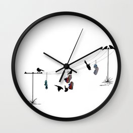Life on a Wire! Wall Clock