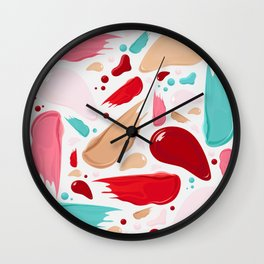 Make up Palette Pattern Wall Clock