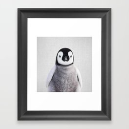 Baby Penguin - Colorful Framed Art Print