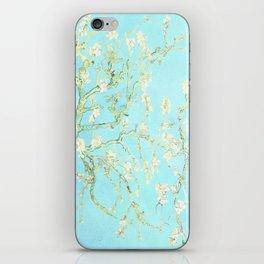Vincent Van Gogh : almond blossoms Aqua Blue iPhone Skin