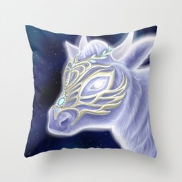 A Noble Wintacow Throw Pillow