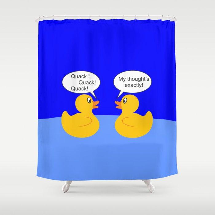 Talking Rubber Ducks Shower Curtain