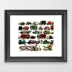On Our Way. Framed Art Print