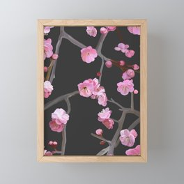 Plum blossom pattern Framed Mini Art Print