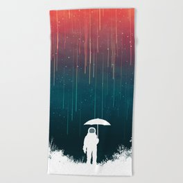 Meteoric rainfall Beach Towel