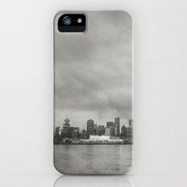 Vancouver Raincity Series - Raincity i - Moody Downtown Vancouver Cityscape iPhone Case