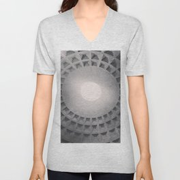 The Pantheon dome, architectural photography, Michael Kenna style, Rome photo Unisex V-Neck