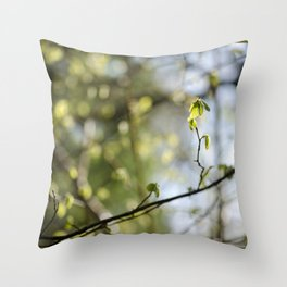 Nature's Bokeh Throw Pillow