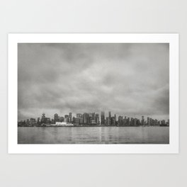 Vancouver Raincity Series - Raincity i - Moody Downtown Vancouver Cityscape Art Print