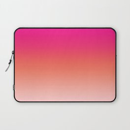Gradient Ombre Living Coral Millennial Plastic Pink Pattern Peachy Orange Soft Trendy Cute Texture Laptop Sleeve