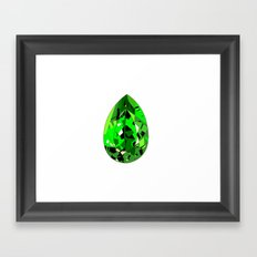 GEMS - green , expensive look , luxury and shine Framed Art Print