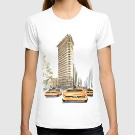 Architecture sketch of the Flatiron building in New york T-shirt