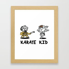 @karate kid Framed Art Print