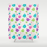 monsters Shower Curtains featuring Monsters by Earl Foolish