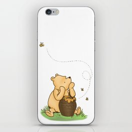 Classic Pooh with Honey - No background iPhone Skin