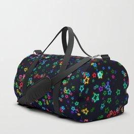 Colorful Neon Star Duffle Bag