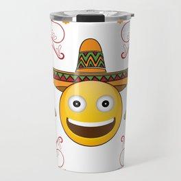 Emoji Cinco De Mayo Funny Travel Mug