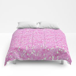 Pink Glitter Comforters