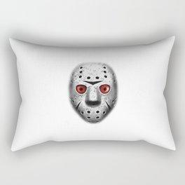 Jason Saw Mask Rectangular Pillow