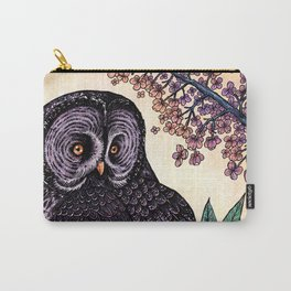Great Grey Owl At Sunset Carry-All Pouch