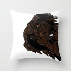 Flatcoated Throw Pillow