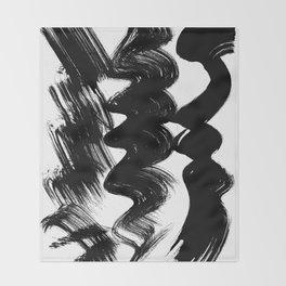 Brush stroke Throw Blanket