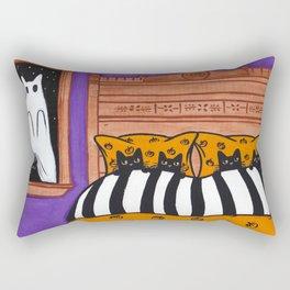 Halloween Scaredy Cats Rectangular Pillow