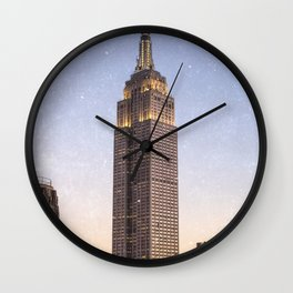 empire state building new york city Wall Clock