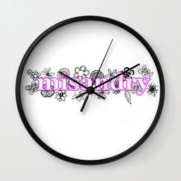 Misandry Wall Clock