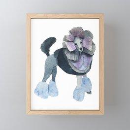 Posh Punk Poodle Framed Mini Art Print