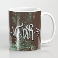 wander Mugs featuring Wander by Leah Flores