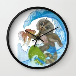 Pygmy Marmoset - Surfer - Superhero Wall Clock