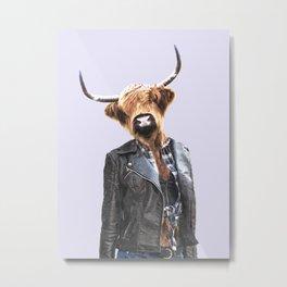 Cow Girl Metal Print