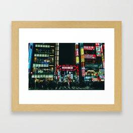 Neon Lights of Kabukicho Framed Art Print