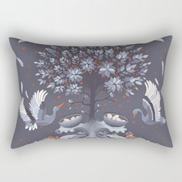Purple nest tree Rectangular Pillow