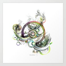 a good place for sincere thought Art Print