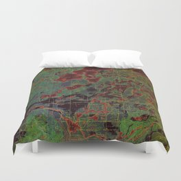 Pillager old map year 1916, american old maps Duvet Cover