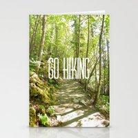 hiking Stationery Cards featuring Go Hiking by Jennifer Kimberly