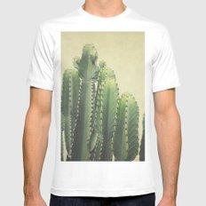 Cactus MEDIUM Mens Fitted Tee White