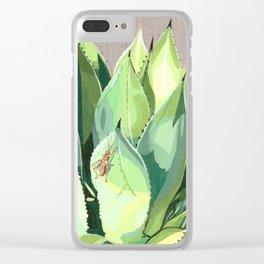 Agave Parrasana Clear iPhone Case
