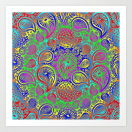 Circular paisley Art Print