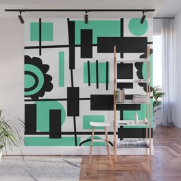 Teal is the new Black Wall Mural