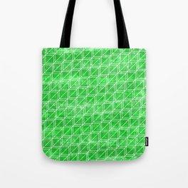 Green Geometric Pattern Tote Bag