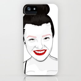 Happy independant woman strong and healthy iPhone Case