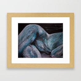 goodnight moonlight lady Framed Art Print